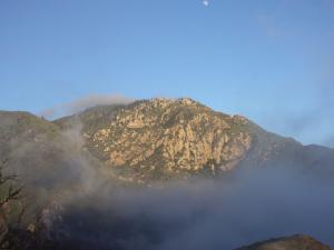 Rocky Ridge in the mist