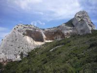 Cliffs above St Remy