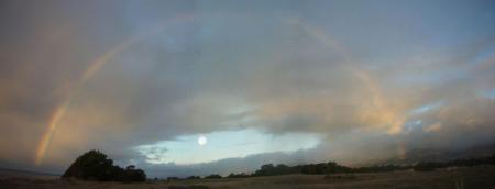 A rainbow at Ellwood Mesa